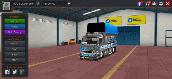 MOD BUSSID Truck Canter V2 Varian A, B, C, D by Mukhlas