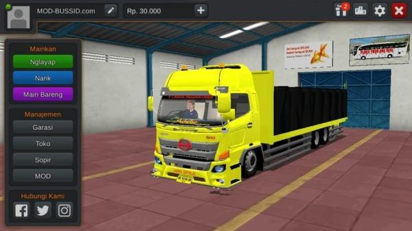 MOD BUSSID Truck Hino 500NG Muatan Semen