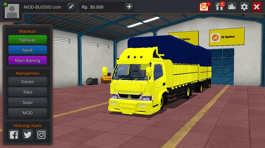 MOD BUSSID Truck New Canter Gandeng