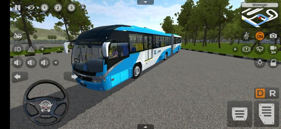 MOD BUSSID Bus Transjakarta Gandeng
