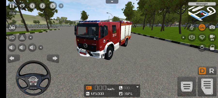 MOD BUSSID Truck Mercedes-Benz Atego Damkar