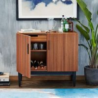 Mid-century style Reede bar cabinet from West Elm - Retro ...