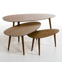 Flashback hevea wood retro coffee tables from La Redoute ...