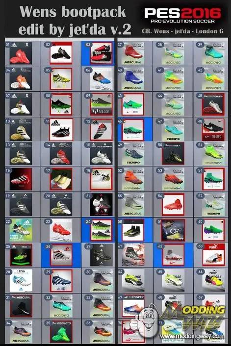 Bootpack Pes 2016 Terbaru : bootpack, terbaru, BootPack, Season, 2016-17, Jet´da/WENS, Evolution, Soccer, ModdingWay