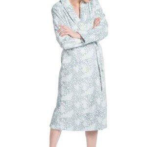 Eskimo badjas dames mintgroen met sjaalkraag