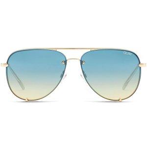 Quay Australia - High Key Mini Rimless - Gold / Turquoise