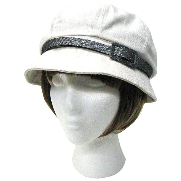 Mode hoed met riem Wit