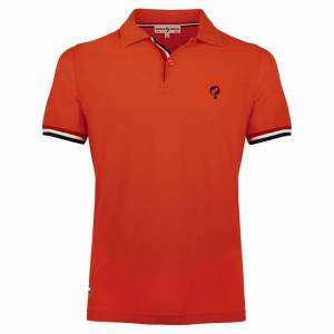 Heren Polo Joost Luiten - Oranje Rood