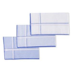 Profuomo Zakdoek 3-Pack Wit Blauw