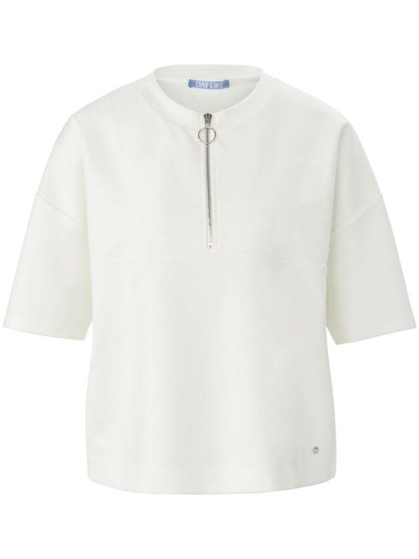Sweatshirt met korte mouwen Van DAY.LIKE wit