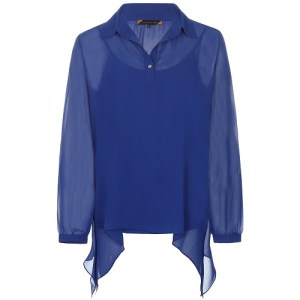 voile blouse kobalt