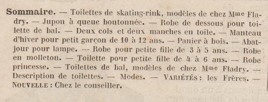 sommaire mode illustrée 1878 1