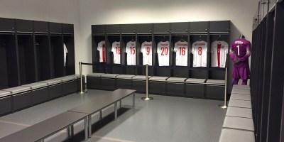 Szatnie / garderoby na Stadionie Narodowym