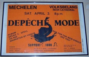 Plakat ze Speak & Spell Tour