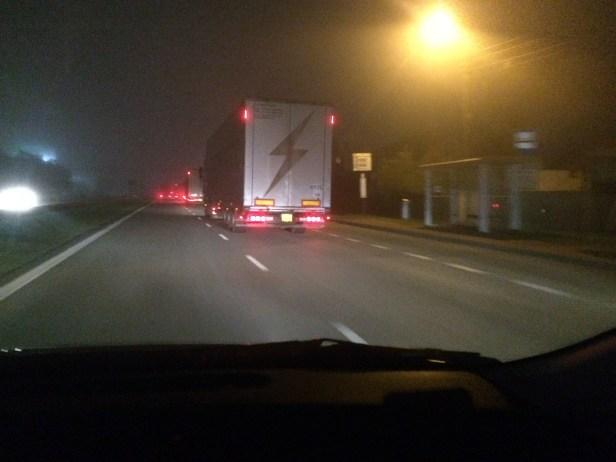 2017.07.22 Trasa S7 na południe od Warszawy. Stage Trucks jadą do Cluj.