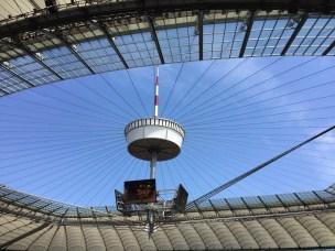 PGE Narodowy dach na stadionie przed koncertem depeche MODE 2017.07.19