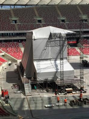 PGE Narodowy budowa sceny na koncert depeche MODE 2017.07.19