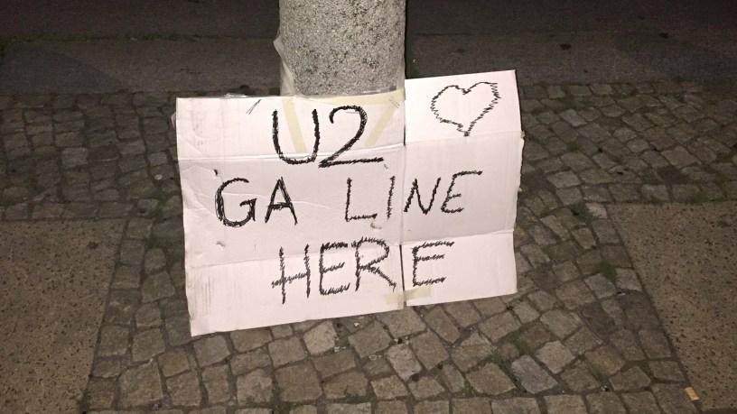 General Admission U2 Line