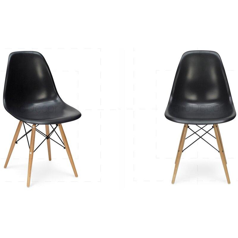 2er Set Eames DSW Stuhl in Schwarz, 243,00 € - moDecor ...