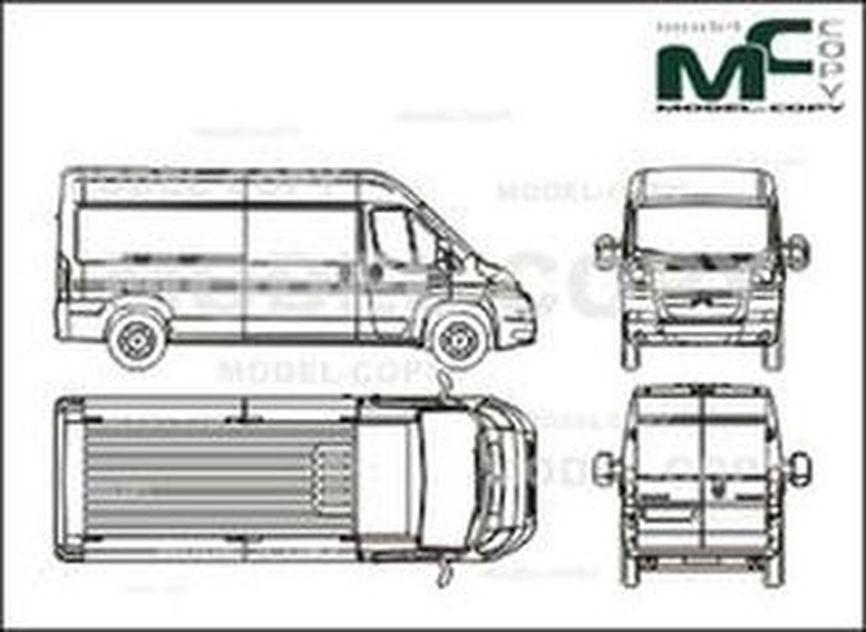 Citroen Jumper box, L3H2, medium wheelbase, 1 sliding door