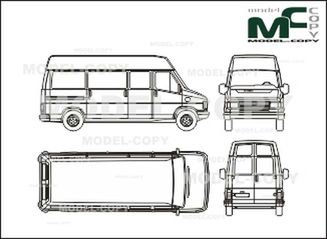 Fiat Ducato Drawing The FIAT Car