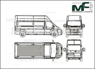 Drawing Fiat Ducato The FIAT Car