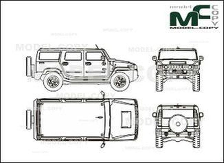 Hummer H2 Blueprint