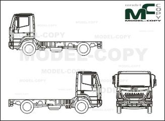 Iveco Eurocargo ML 180 E 24, chassis, Normal Driver's cab