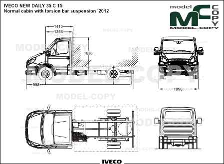 IVECO NEW DAILY 35 C 15 Normal cabin with torsion bar