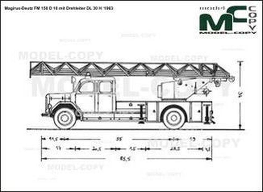 Magirus-Deutz FM 150 D 10 mit Drehleiter DL 30 H '1963