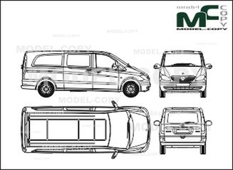 Mercedes-Benz Vito Combi, Extra Long Version, 2 sliding