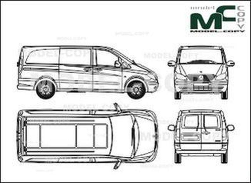 Mercedes-Benz Vito van, long version, one sliding door
