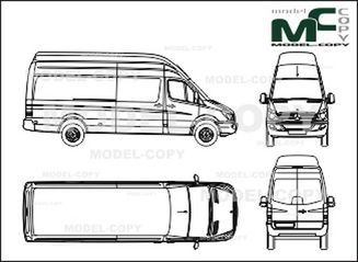 Mercedes-Benz Sprinter van, long, super-high roof, 4325 mm