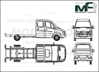 Mercedes-Benz Sprinter chassis, extra-long, double cab