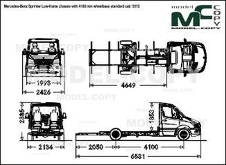 Mercedes-Benz Sprinter Low-frame chassis with 4100 mm