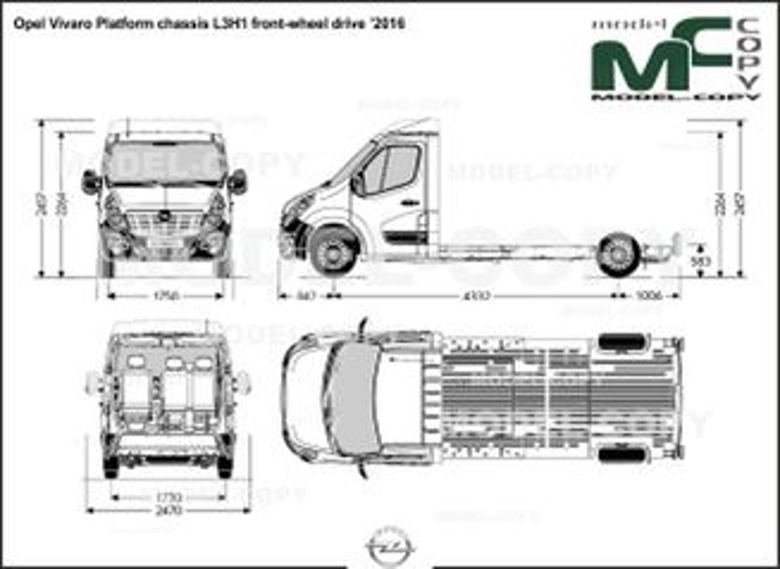 Opel Vivaro Platform chassis L3H1 front-wheel drive '2016