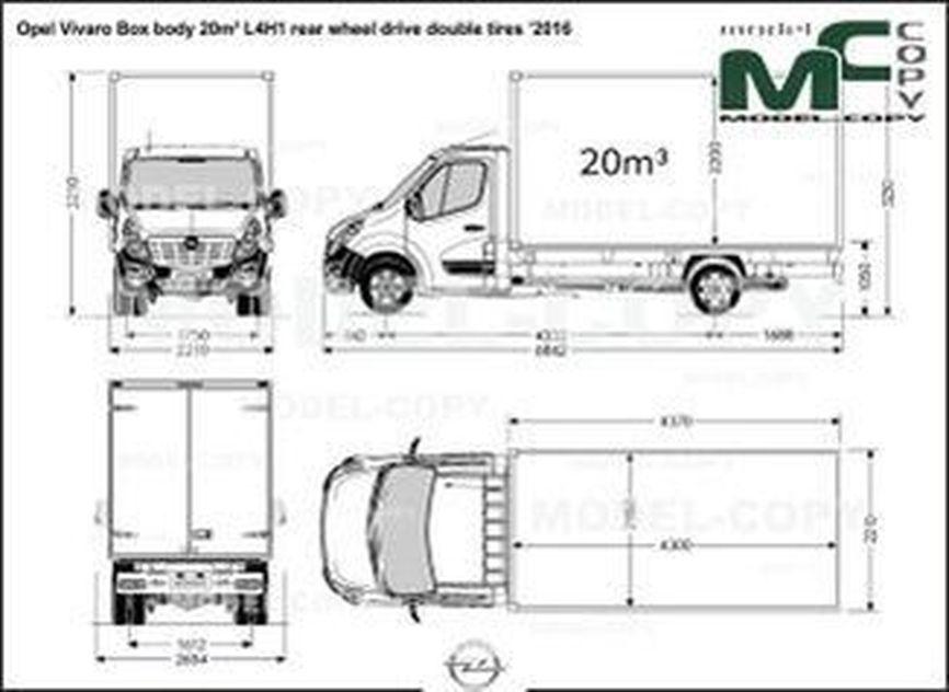 Opel Vivaro Box body 20m³ L4H1 rear wheel drive double