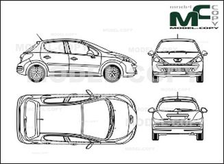 List of Synonyms and Antonyms of the Word: Peugeot 207 Drawing
