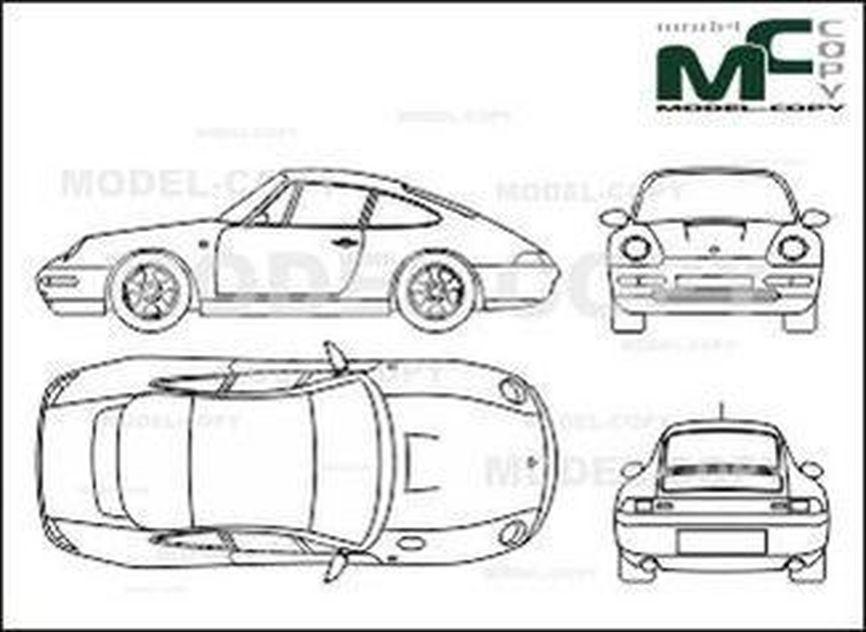 Porsche 911 Dessin