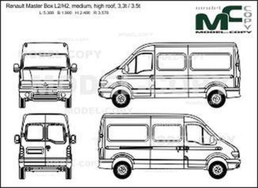 Renault Master Box L2 / H2, medium, high roof, 3,3t / 3.5t