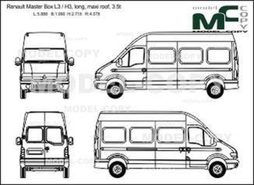 Renault Master Box L3 / H3, long, maxi roof, 3.5t