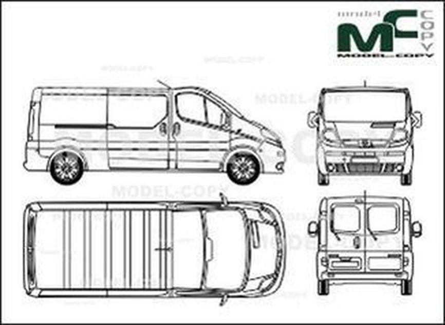 Renault Trafic L2H1 box, rear double doors, 2 sliding