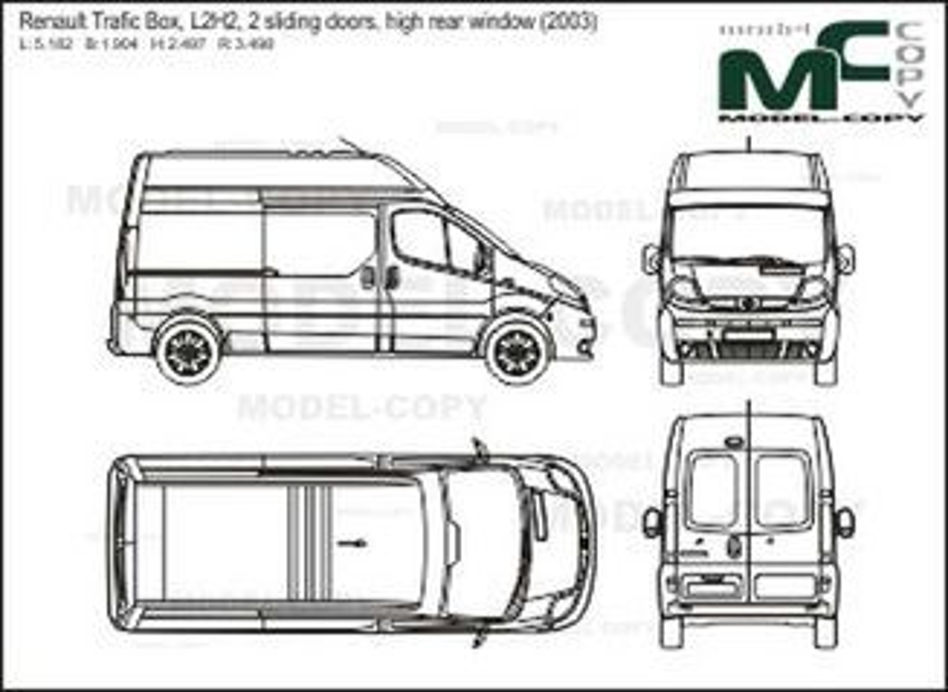 Renault Trafic Box, L2H2, 2 sliding doors, high rear