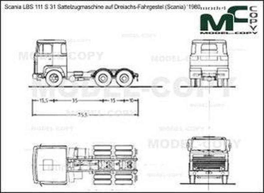 Scania LBS 111 S 31 Sattelzugmaschine auf Dreiachs