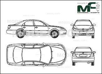 Toyota Camry Drawing