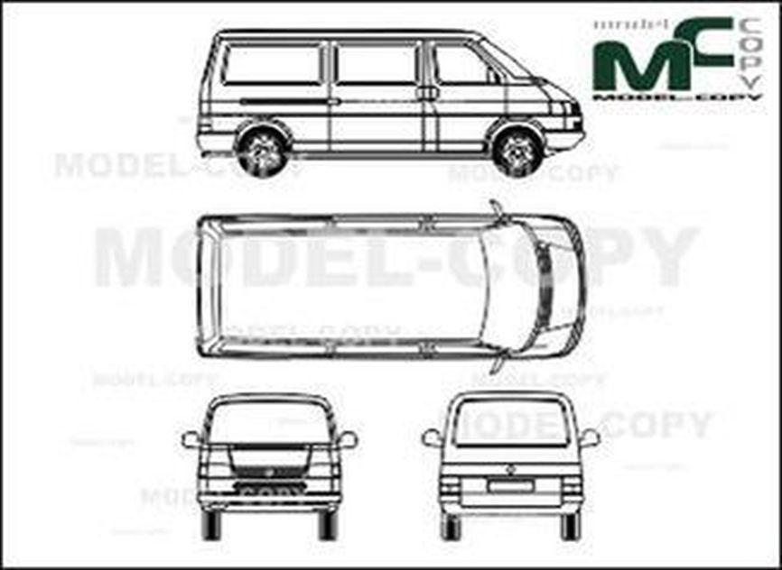 Volkswagen Transporter type 4, Сombi, wheelbase long