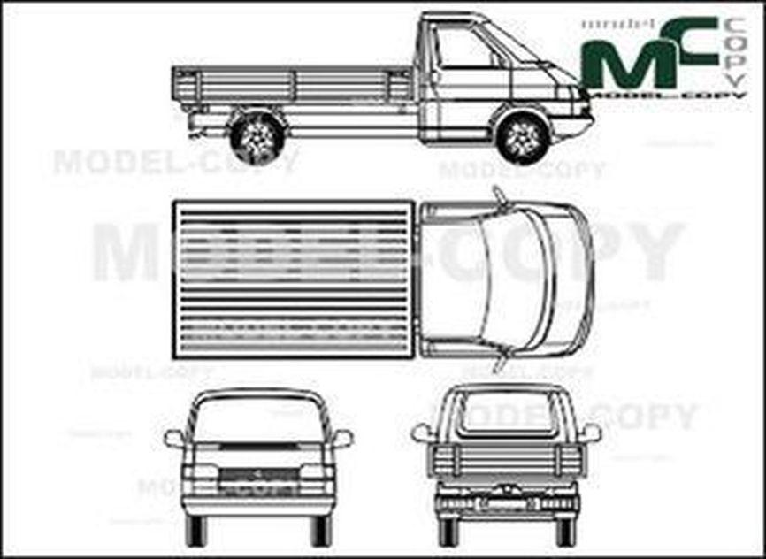 Volkswagen Transporter type 4, bunk, wheelbase long