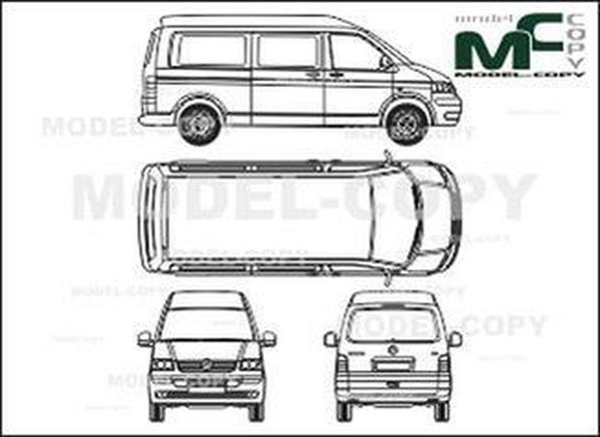Vw Transporter T5 Blueprint Volkswagen Car
