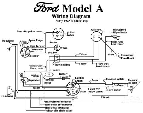 1928 model aa ford truck wiring diagram  auto wiring