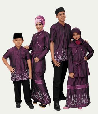 contoh baju couple muslim Suami istri terbaru